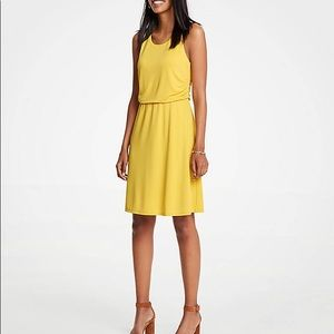 Ann Taylor warm yellow dress midi